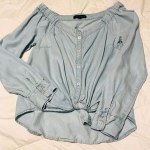 Sanctuary Chambray Top